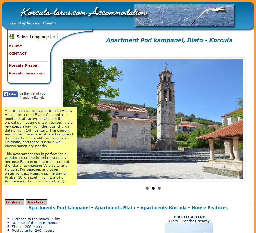 Izrada web stranica za apartmane